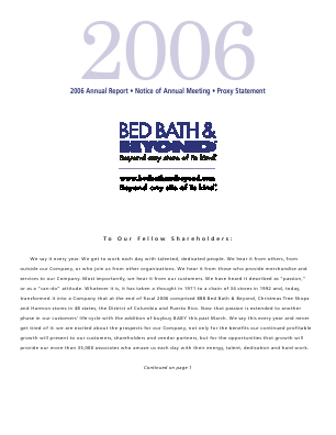 Bed Bath & Beyond Inc. annual report 2006