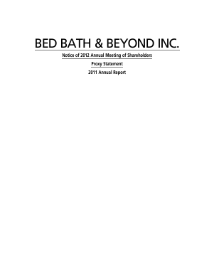 Bed Bath & Beyond Inc. annual report 2011