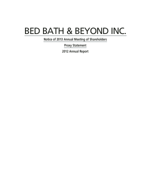 Bed Bath & Beyond Inc. annual report 2012