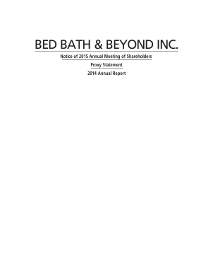 Bed Bath & Beyond Inc. annual report 2014