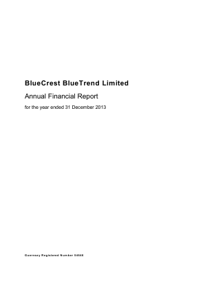 Bluecrest Bluetrend annual report 2013