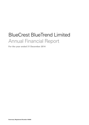Bluecrest Bluetrend annual report 2014