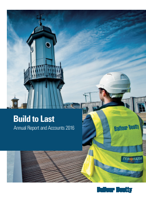 Balfour Beatty annual report 2016