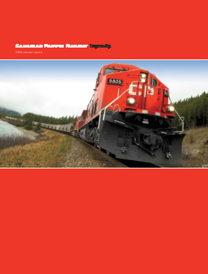 Canadian Pacific Railways annual report 2004