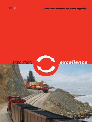 Canadian Pacific Railways annual report 2005