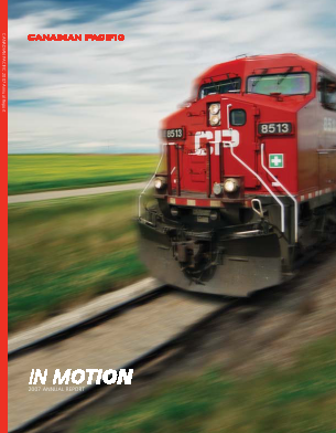 Canadian Pacific Railways annual report 2007