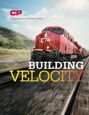 Canadian Pacific Railways annual report 2013
