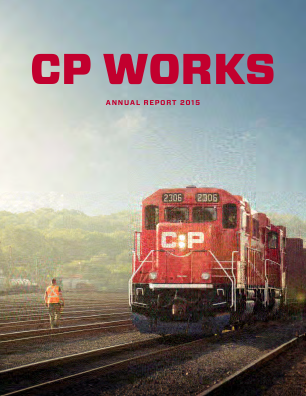 Canadian Pacific Railways annual report 2015