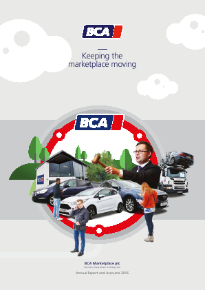 BCA Marketplace Plc annual report 2016