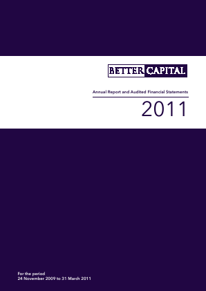 Better Capital PCC Ld annual report 2011