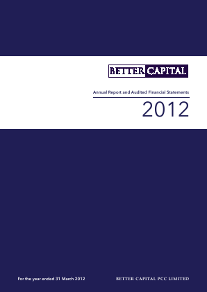 Better Capital PCC Ld annual report 2012