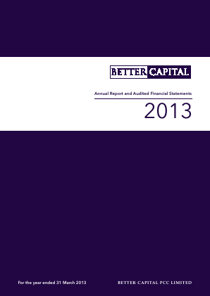 Better Capital PCC Ld annual report 2013