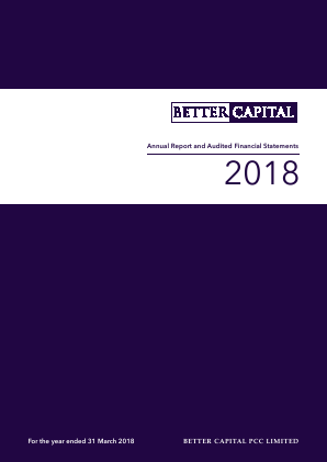 Better Capital PCC Ld annual report 2018