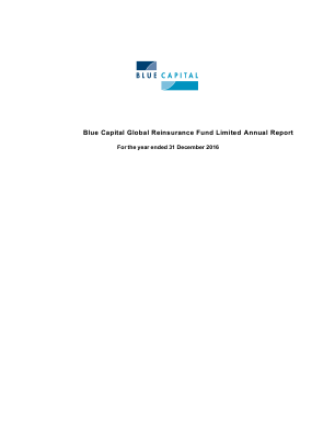 Blue Capital Alternative Income Fund (formally Blue Capital Global Reinsurance Fund) annual report 2016