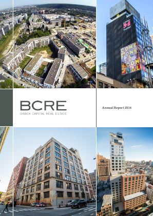 BCRE Brack Capital Real Estate annual report 2014