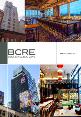 BCRE Brack Capital Real Estate annual report 2015