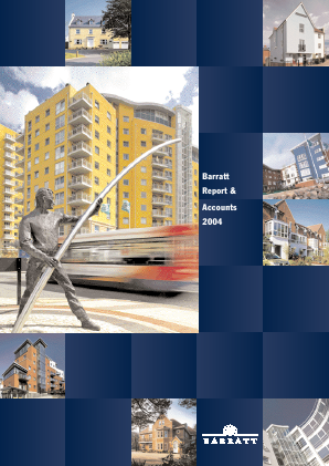 Barratt Developments Plc annual report 2004