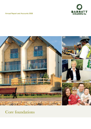 Barratt Developments Plc annual report 2008