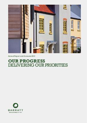 Barratt Developments Plc annual report 2010