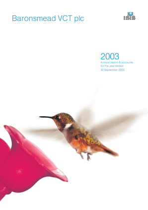 Baronsmead VCT annual report 2003