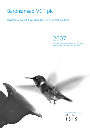 Baronsmead VCT annual report 2007