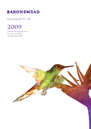 Baronsmead VCT annual report 2009