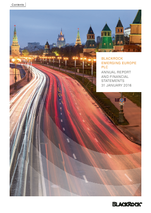 Blackrock Emerging Europe Plc annual report 2016