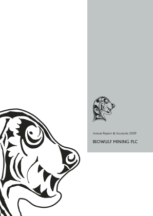 Beowulf Mining annual report 2009