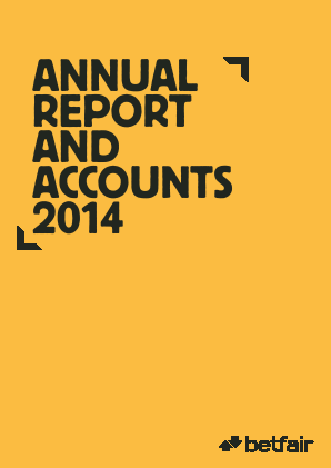 Betfair Group Plc (merged to become Paddy Power Betfair PLC) annual report 2014