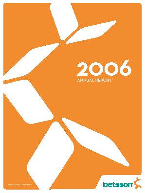Betsson annual report 2006