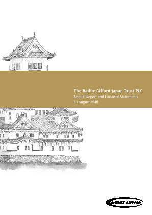 Baillie Gifford Japan Trust annual report 2010
