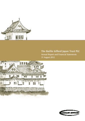 Baillie Gifford Japan Trust annual report 2012