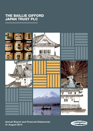 Baillie Gifford Japan Trust annual report 2013