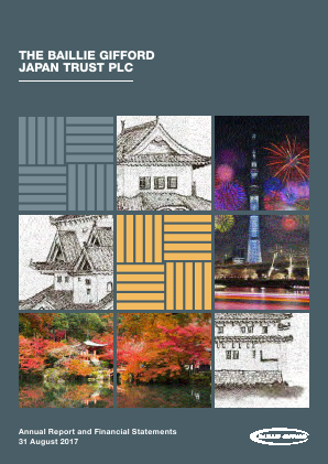 Baillie Gifford Japan Trust annual report 2017