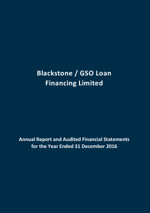 Blackstone/Gso Loan Financing Ltd annual report 2016