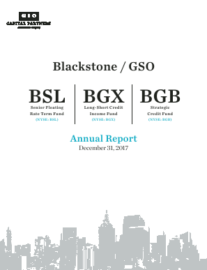 Blackstone/Gso Loan Financing annual report 2017
