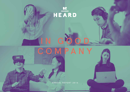 Be Heard annual report 2016
