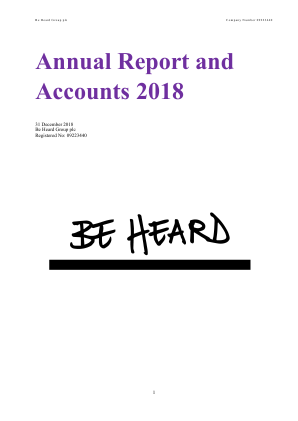 Be Heard annual report 2018