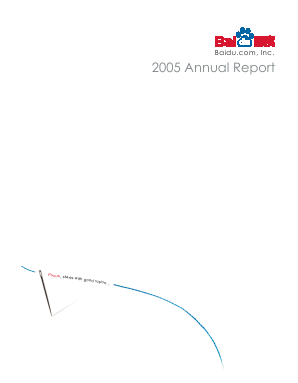 Baidu, Inc. annual report 2005
