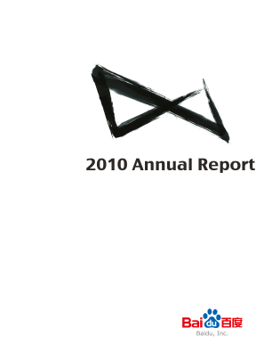 Baidu, Inc. annual report 2010