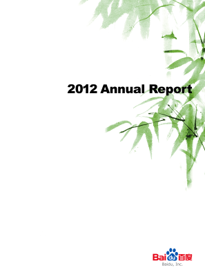 Baidu, Inc. annual report 2012