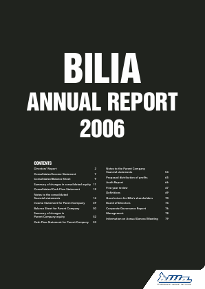Bilia annual report 2006