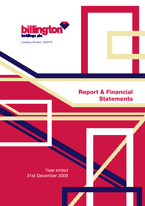 Billington Holdings Plc annual report 2009
