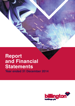 Billington Holdings Plc annual report 2014