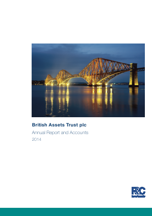 Aberdeen Diversified Income and Growth Trust plc (formally Blackrock Income Strategies Trust Plc annual report 2014