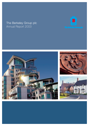 Berkeley Group Holdings annual report 2003