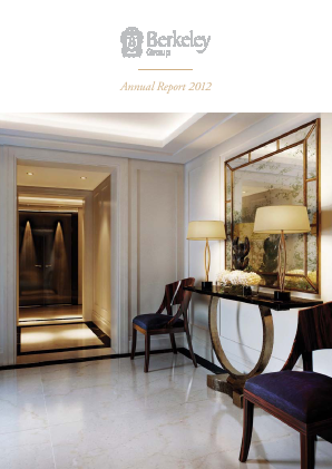Berkeley Group Holdings annual report 2012