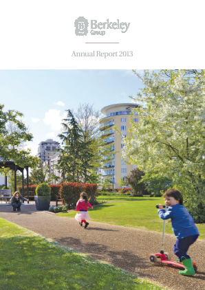 Berkeley Group Holdings annual report 2013
