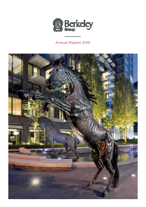 Berkeley Group Holdings annual report 2015