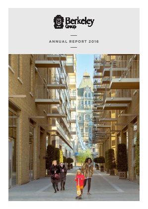 Berkeley Group Holdings annual report 2016